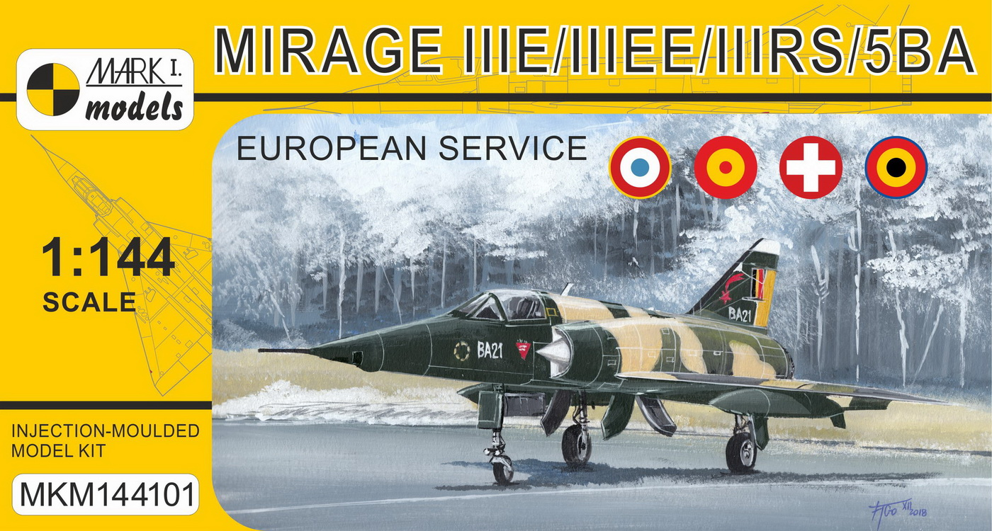 Mirage IIIE/EE/RS/5BA 'In Europe' French,Spanish,Swiss,Belgian